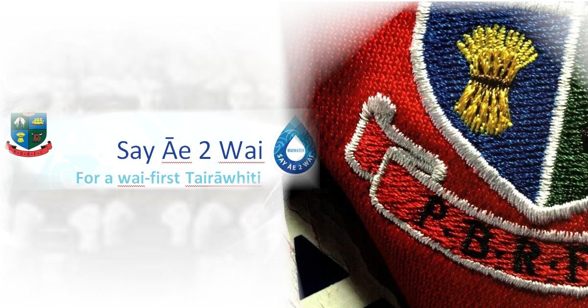Say Āe 2 Wai – For a wai-first Tairāwhiti
