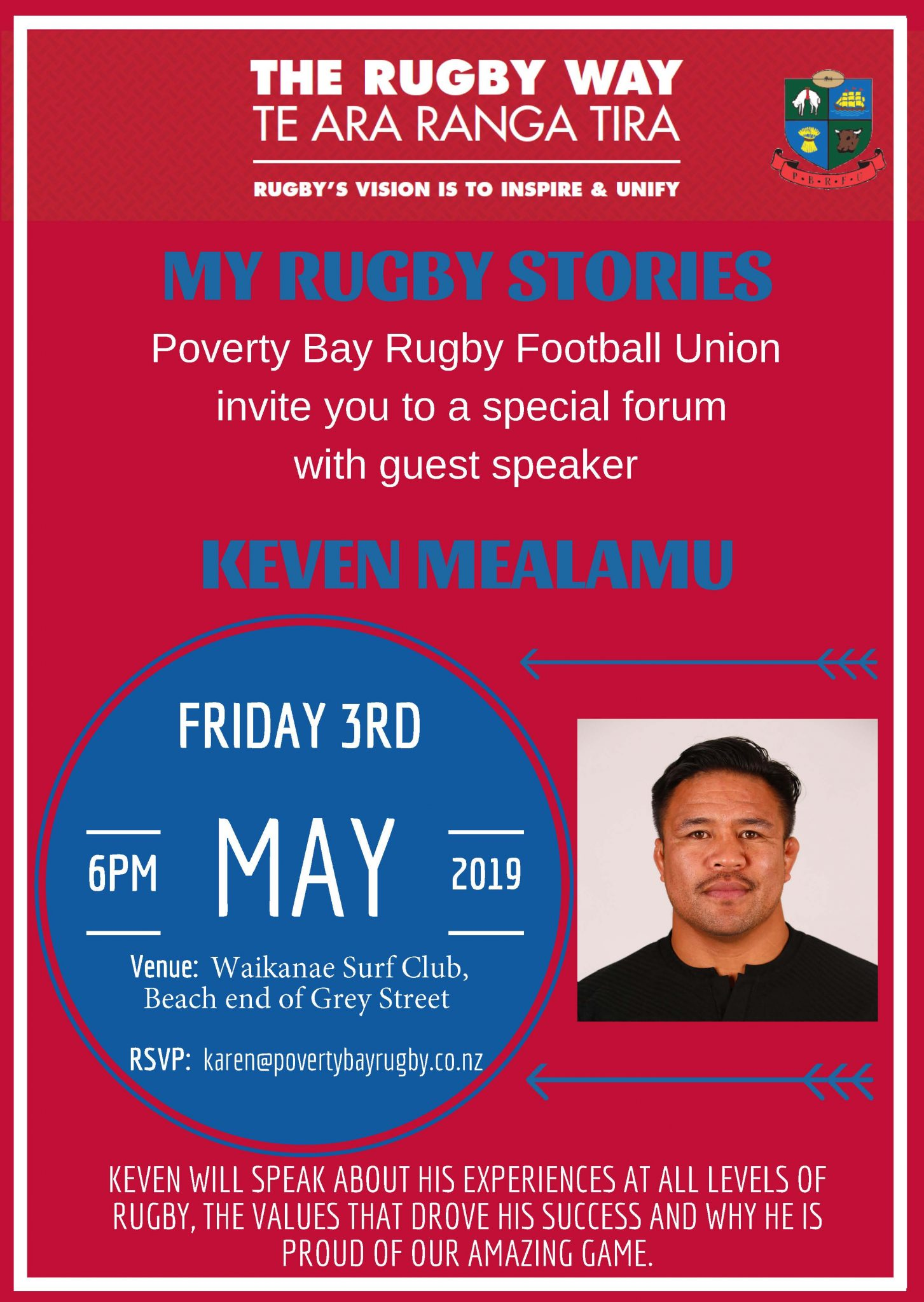 All Blacks legend Keven Mealamu visiting Poverty Bay