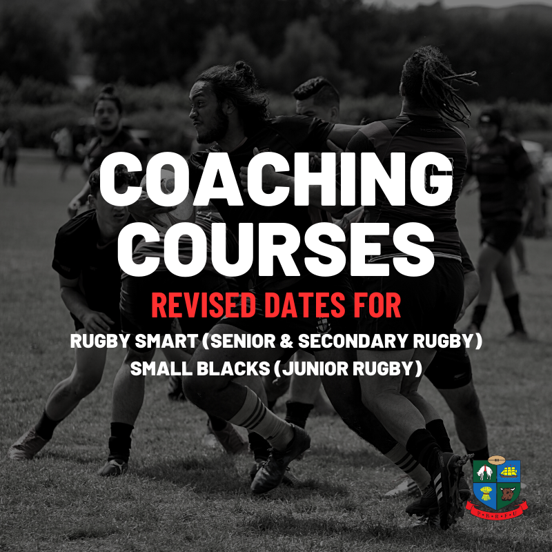 Rugby Smart and Small Blacks revised course dates