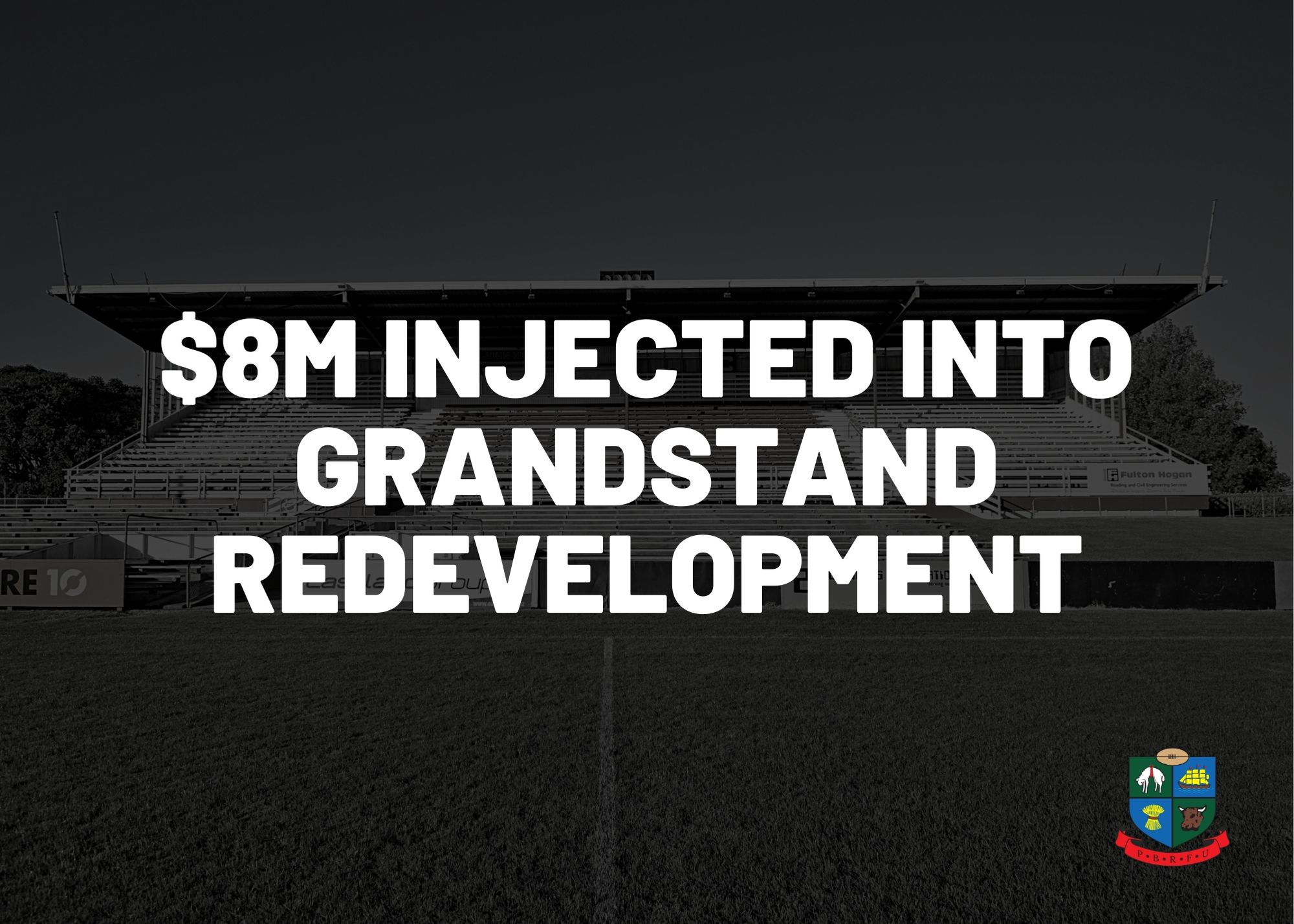 $8m injected into grandstand redevelopment