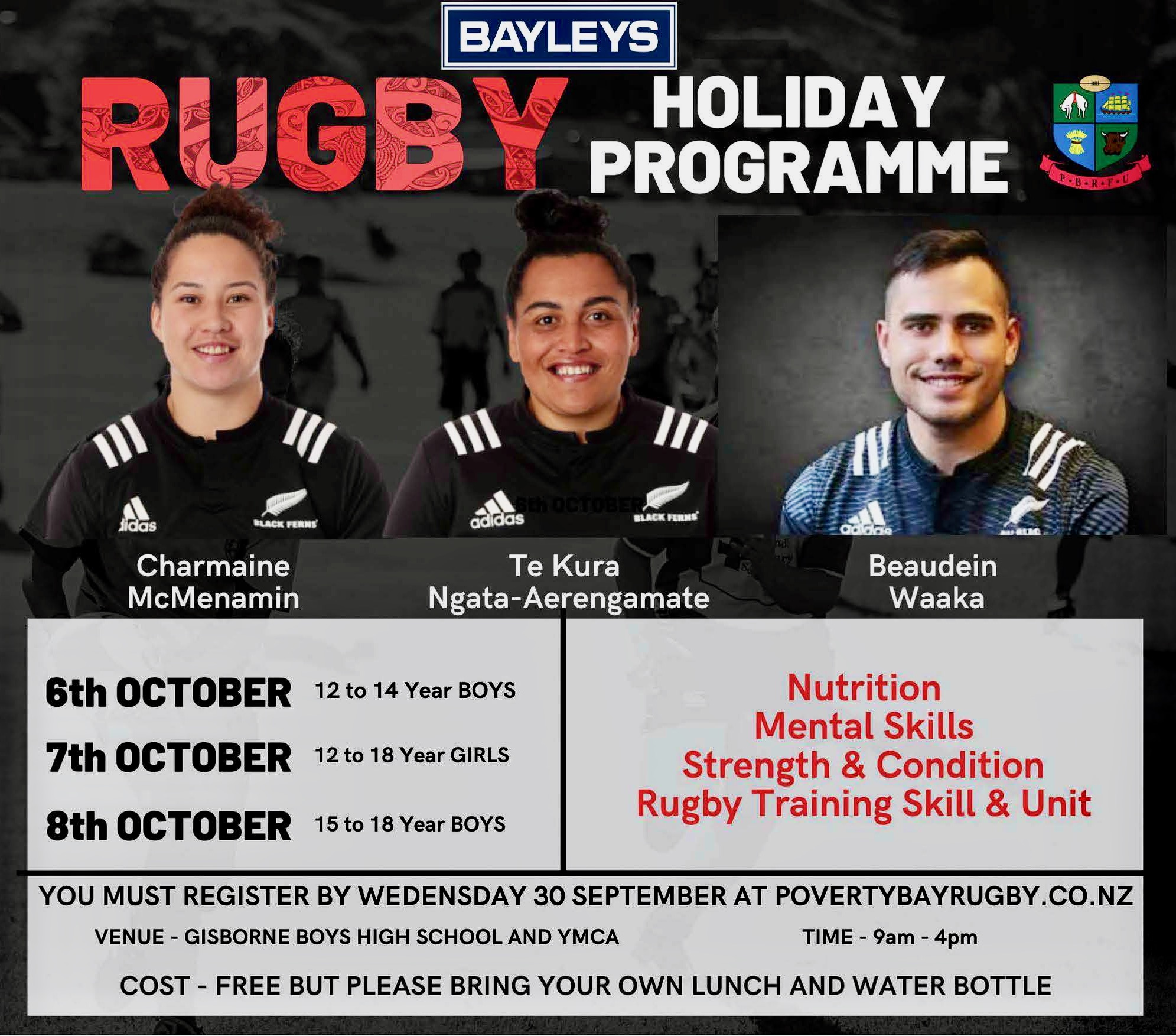 BAYLEYS RUGBY HOLIDAY PROGRAMME