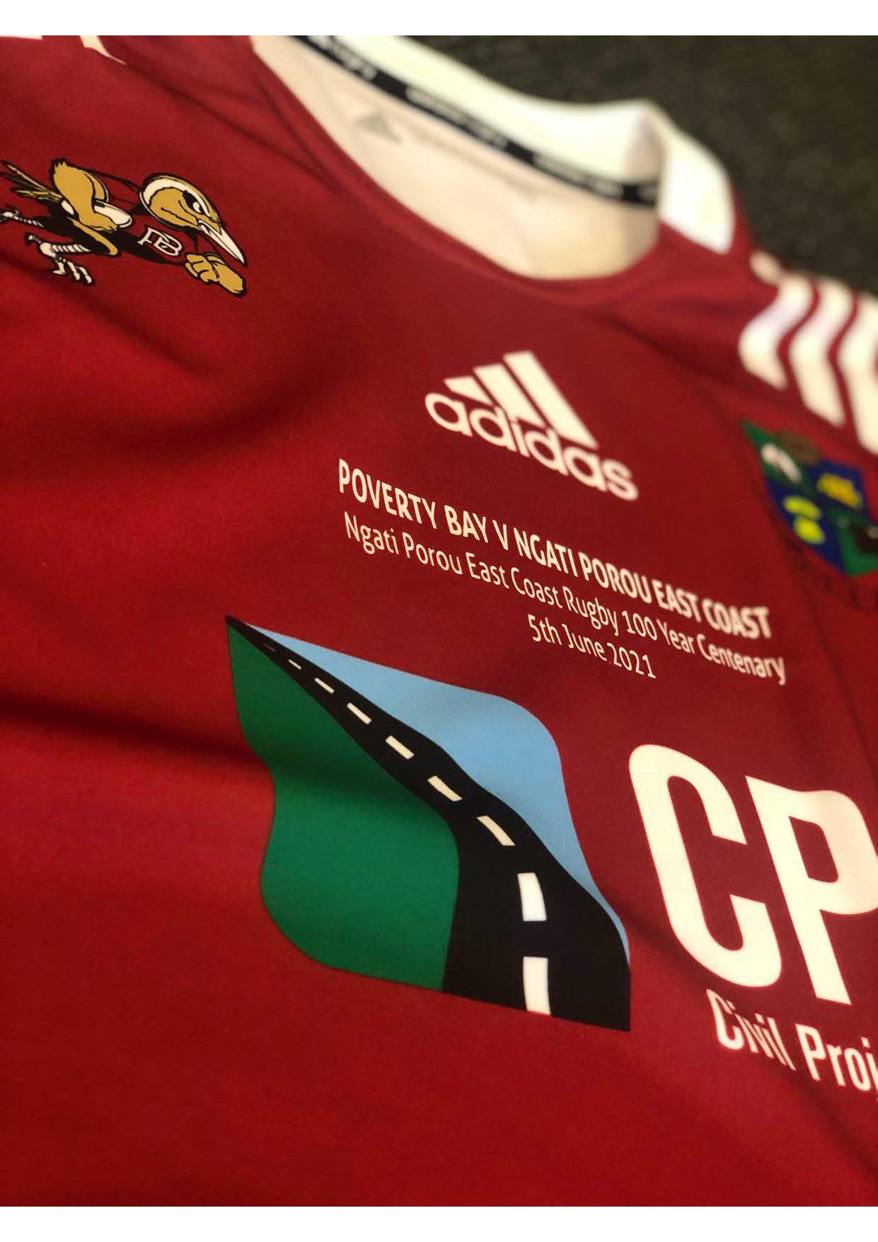 Commemorative jersey for NPEC Centenary game