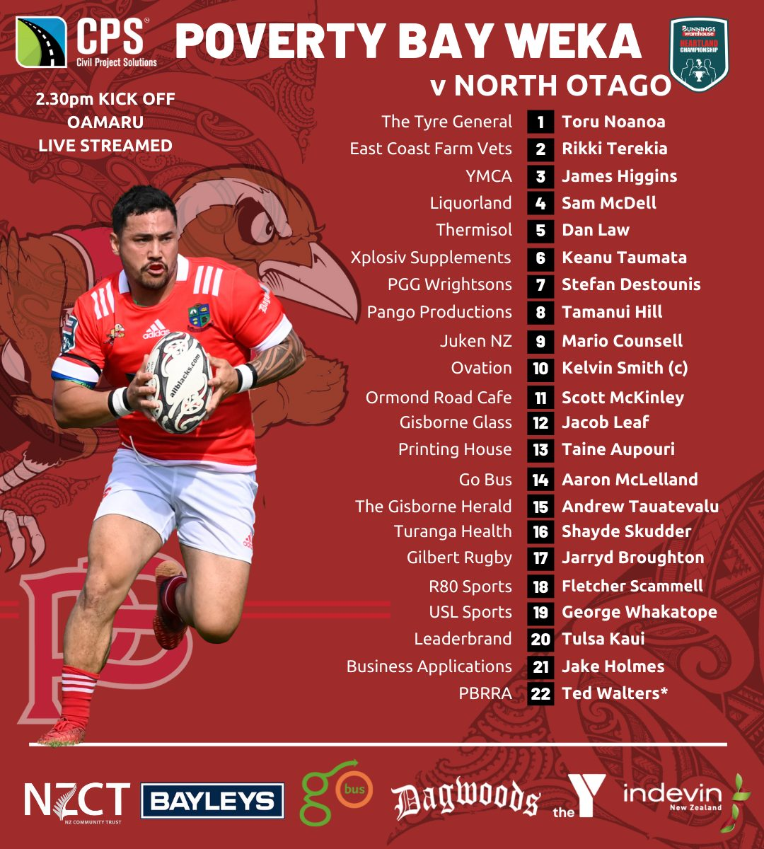 CPS Poverty Bay Wekas to play North Otago named